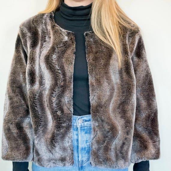 Faux Fur Cropped Coat