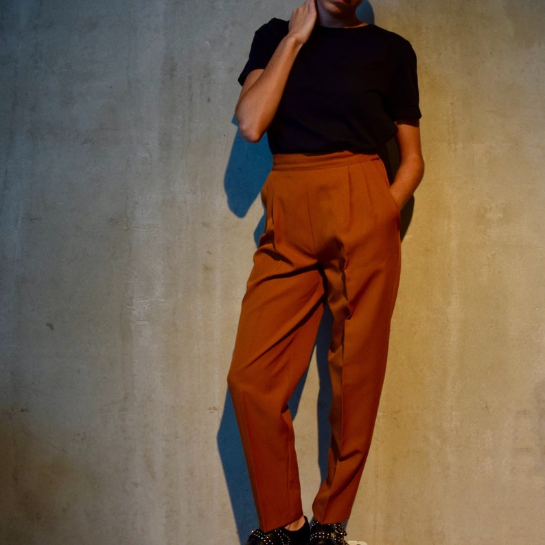 a9893782 Vintage Camel Pleated Brown Trouser Pants