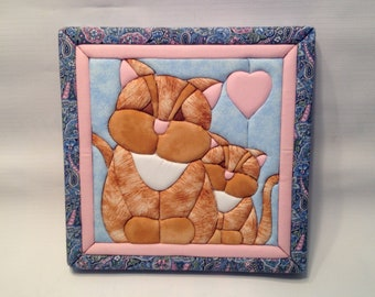 Quilted Wall Plaque - Kittys
