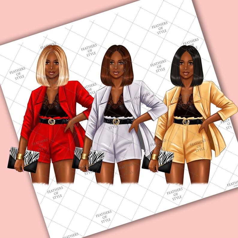 Afro girl clipart Planner Girl Clipart Boss Girl clipart Lady boss clipart Fashion Girl Clipart Boss Babe clipart