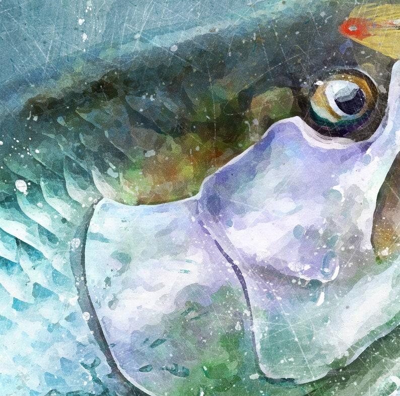 Tarpon fly fishing decor watercolor style tarpon art print