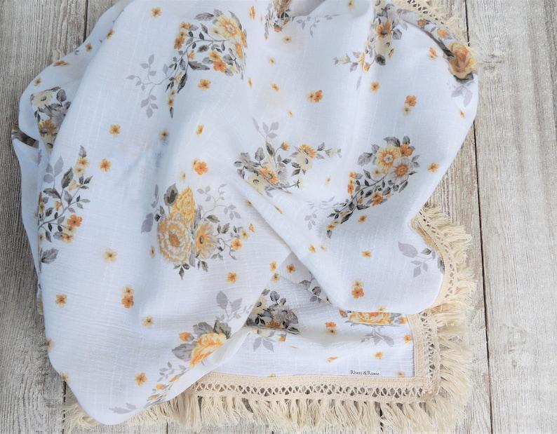 Baby Girl Blanket Baby Girl Boho Blankets Girl Vintage blanket Baby Girl Summer Blanket Floral Baby Blanket Swaddle Blanket Baby Shower
