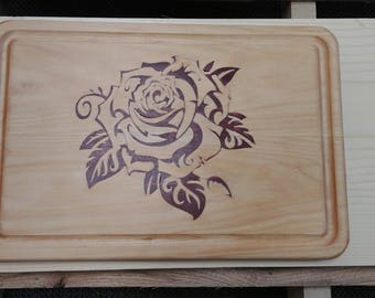 Custom Wooden Inlay Cutting Board