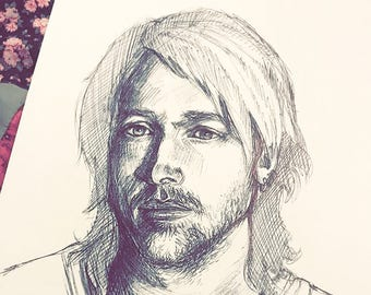 Custom Pen Drawings, Drawn by Hand (Portraits for People & Pets)