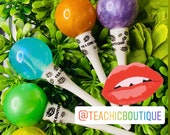 TCB Color Explosion Pops 11ml lollipop wand tubes Premixed Lip Gloss Bases Infused with Lemon GrapeSeed Oil