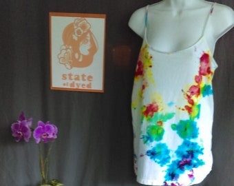 Women's 2XL Tie Dye Tank - Multi Color