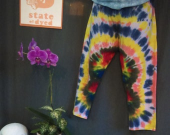 Women's Large Capri Tie Dye Leggings