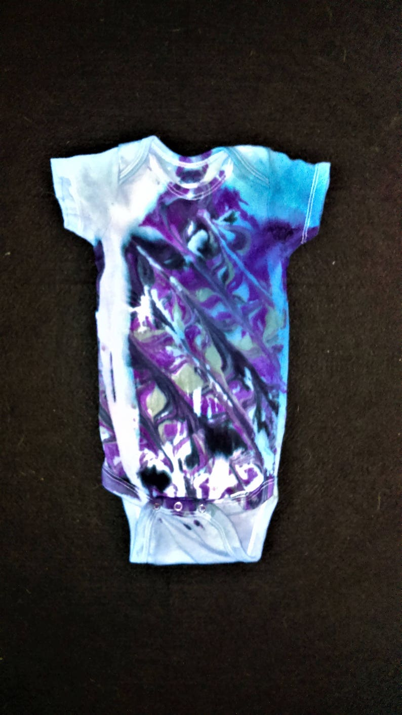 Baby Unisex Hand Made Tie Dye Vest 0-3 Months Baby & Toddler Clothing