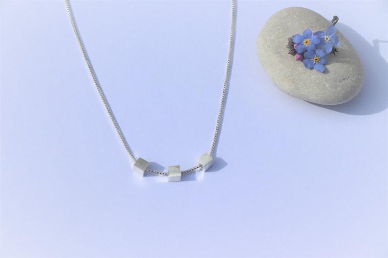 Square cube necklace
