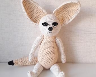 Amigurumi Fifi the Fennec Fox Crochet pattern by Shannen Nicole Chua | 270x340