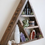 Triangle Altar Shelf with moon phases