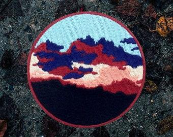 Woven Landscape Wanderlust Iron On Patch Moonlight