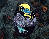 New World Patch - Embroidered - Iron On - Dinosaur Patch, Alien Patch, Planet Patch, Jurassic Patch, UFO Patch, Outer Space Patch, Explore