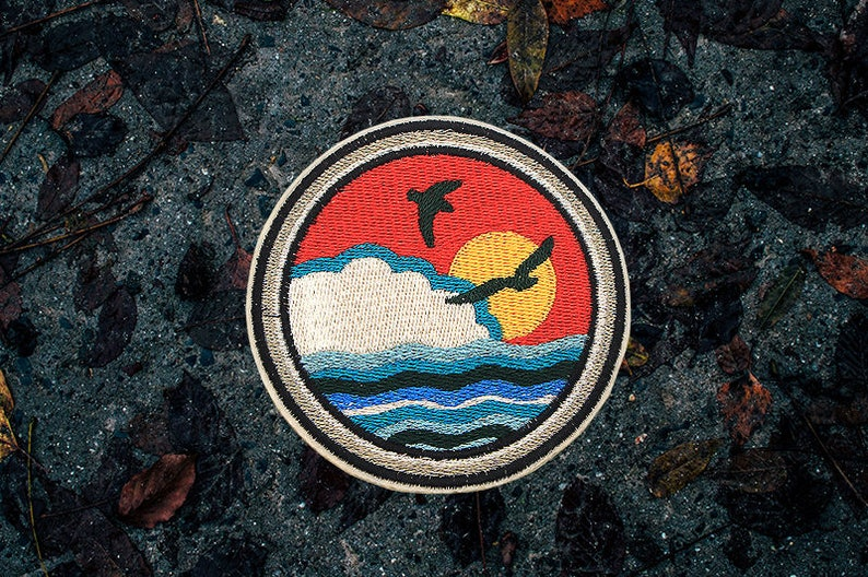 The Island Patch 3.5 / Set Of 2 Patches  Embroidered  image 0