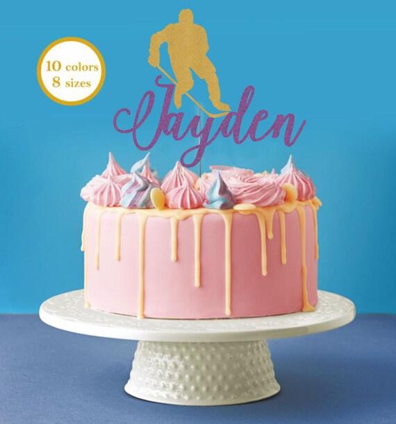 Terrific Hockey Player Cake Decor Hockey Birthday Party Hockey Cake Topper Funny Birthday Cards Online Benoljebrpdamsfinfo