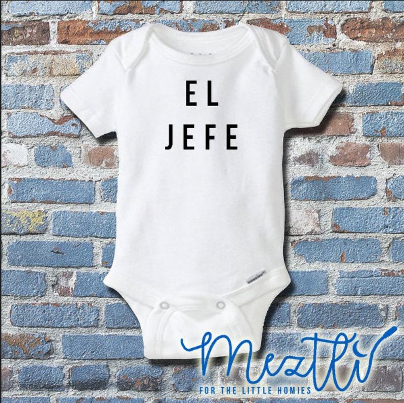 af9404ac4 El Jefe Onesie® Spanish Onesies® Hip Hop Baby Clothes   Etsy