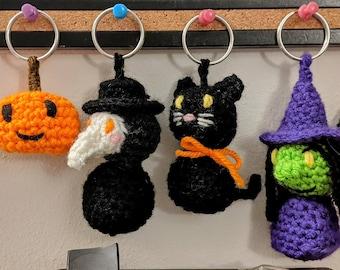 Spooky Crochet Keychains