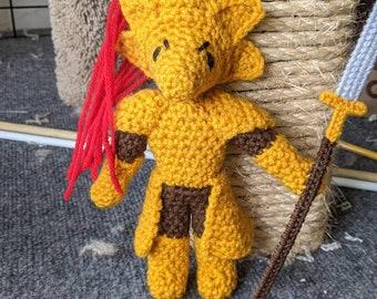 Ornstein crocheted plushie