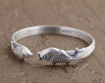 JoyGemstones, 100% SOLID Sterling Silver Fish bracelet