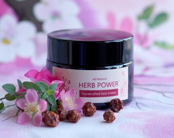Herb Power - Anti-Aging Face Cream - Non-greasy - 100% Natural - Great for Aging and Dull Skin