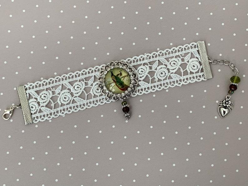 Vintage armband van kant