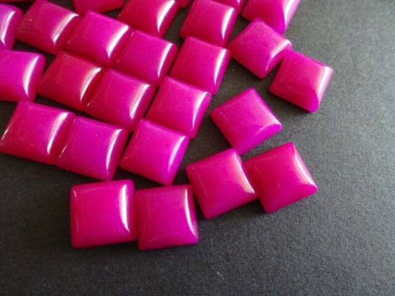 AAA Quality Hot Pink Chalcedony Square Cabochon 3MM-10MM Loose Gemstone Free Shipping  3X3MM,4X4MM,5X5MM,6X6MM,7X7MM,8X8MM,9X9MM,10X10MM.