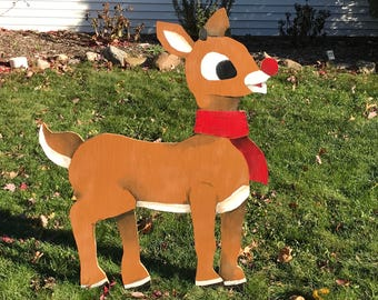 4' Rudolph the Red Nosed Reindeer Christmas Decor - Local Pickup or Delivery ONLY (Cleveland, OH)