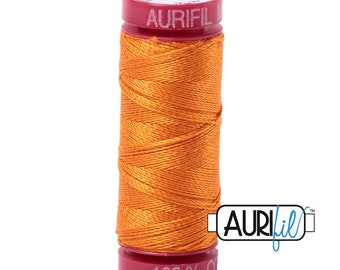 1300m each AURIFIL 100/% Cotton Mako 50wt Orange 3 Spools 2214+1133+1104