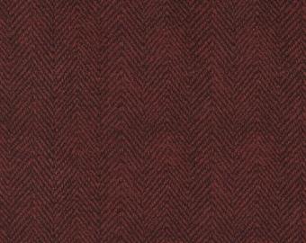 BTHY Maywood Woolies Flannel Red Black Herringbone Cotton Flannel Fabric Half Yard 1841-RJ