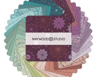 NEW Maywood Studios Saguaro Cactus Green Teal Coral Purple Cotton 40 10 Inch Squares Fabric Layer Cake LC