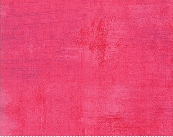 BTHY Moda Grunge BasicGrey Paradise Pink Flamingo Bright Pink Mottled Modern Background Quilting Fabric Half Yard 30150-328