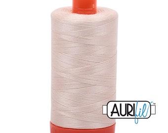 AURIFIL 2000 Light Sand Beige Neutral MAKO 50 Weight Wt 1300m 1422y Spool Quilt Cotton Quilting Thread