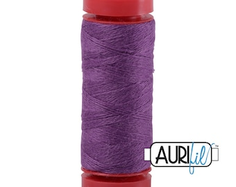 Aurifil LANA WOOL 8552 Orchid Purple 12 Weight Wt 50 Meters 54 Yards Spool Quilt Wool Quilting Thread