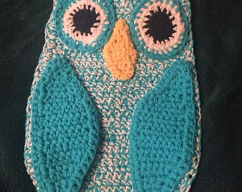 New, Hand Made, Crocheted, Owl Pot Holder, Hanging Decoration