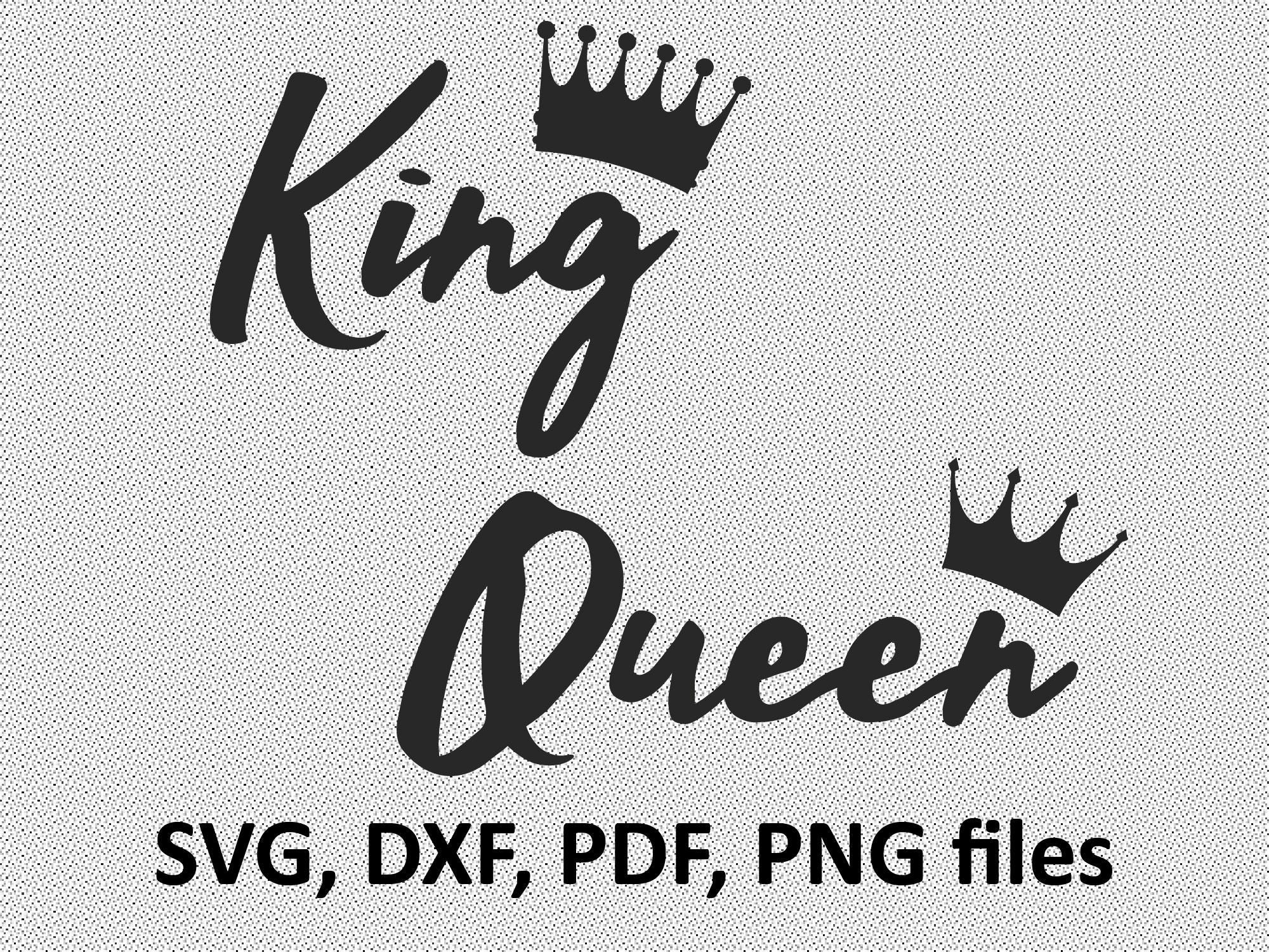 Her King Svg His Queen Svg King And Queen Svg Svg Design: Queen King Svg Files Crown Cutting File Silhouette Cricut