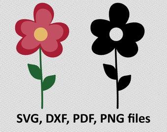 Flower svg / Flower dxf / Flower silhouette,  Svg Files, printing design, cutting, png, pdf, DXF, Flower vector, Nature, chamomile svg