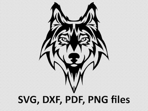 Wolf Svg Wolf Dxf Wolf Clipart Wolf Files Tribal