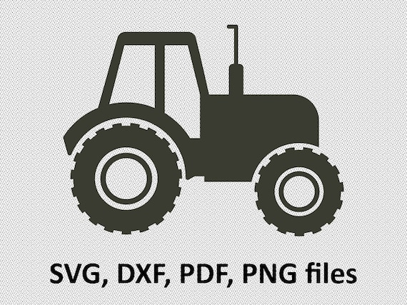 Tractor Svg Tractor Dxf Tractor Silhouette Clipart