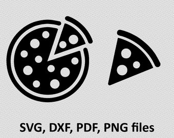 Pizza SVG/ Pizza DXF/ Pizza Clipart/ Pizza Files, printing design, Pizza cutting, Pizza silhouette, Pizza vector, Pizza files, Pizza cut