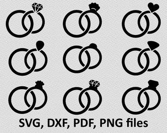 Wedding Ring bundle svg - Ring diamond svg - Ring wedding svg - Ring wedding digital clipart for Design or more,file download  png, pdf, svg