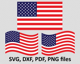 US flag svg, flag svg, US flag clipart, american flag svg, USA flag, cricut silhouette – eps, dxf, png, pdf, svg – digital files