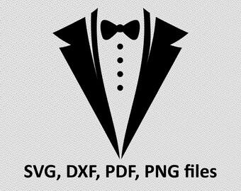 Tuxedo svg, Tuxedo clipart, Suit svg, Suit svg file, Butterfly tie svg, Bow svg, Gentleman svg, Gentleman design, Tie cricut, Cricut design