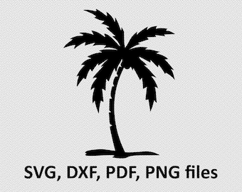 Palm svg / Palm dxf / Palm silhouette,  Svg Files, printing design, cutting, DXF, Flower vector , Nature, tree svg