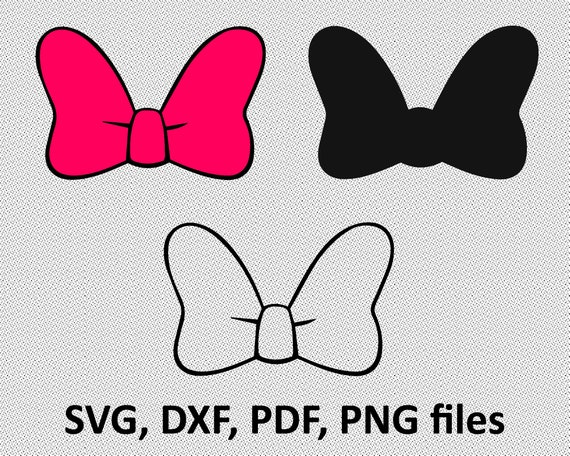 Minnie Mouse bow svg minnie mouse cute bow svg and png | Etsy