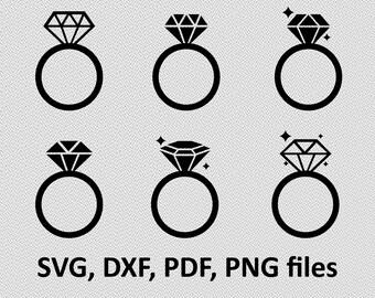 Ring svg - Ring diamond svg - Ring wedding svg - Ring wedding digital clipart for Design or more,file download  png, pdf, svg