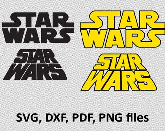 STAR WARS ( svg, dxf, pdf, png) Clipart svg Files cutting vector star wars logo, silhouette, branding, image, clip art