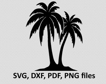 Palm svg / Palm dxf / Palm silhouette,  Svg Files, printing design, cutting, DXF, Flower vector , Nature, tree svg, exotic tree, coconut