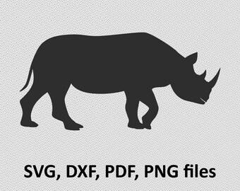 Rhinoceros Rhino, SVG DXF PNG pdf, Clip Art, Instant Digital Download
