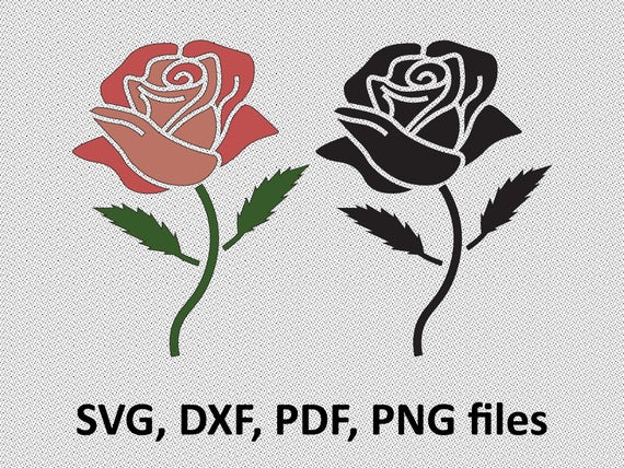 rose svg rose dxf rose clipart rose files cutting dxf etsy
