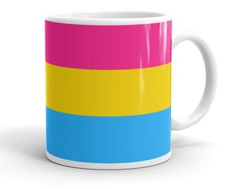 Pansexual Flag Mug, Pansexual Pride, LGBTQ, Gay Merch, Pansexual People,  Polysexual, Queer, Heteroflexibility, Happy Pride 2021